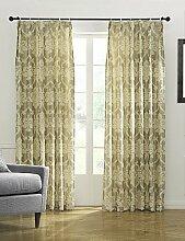 CLL/ (Zwei Platten) klassischen Blumen gelb Verdunklungsvorhang , rod pocket-2* , rod pocket-2*