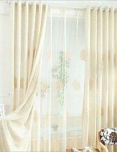 CLL/Zwei scheibenelementen Europa Elegant Fashion hochwertigem Baumwolle bestickt Vorhänge pencil pleated-2*