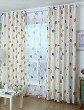 CLL/Zwei scheibenelementen Modern Geometic beige Kinder Raum Bedruckte Vorhänge Drapes rod pocket-2*