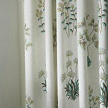 CLL/ (Zwei Tafeln) michelle luxury® Land botanische Wiese Druckumweltfreundliche Vorhang , Double Pleated
