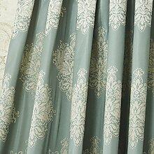 CLL/ (Zwei Tafeln) michelle luxury® neoklassischen grauem Jacquard-Energiesparvorhang , No-Rod Pocke