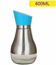 CLLCR Würzflasche 304 Edelstahl Glas Öl Flasche