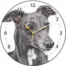Clocks Wanduhr, Motiv Windhund, Italienischer