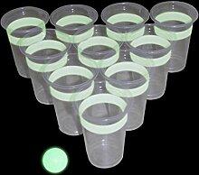 Close Up Beer Pong Glow in The Dark (leuchtet im