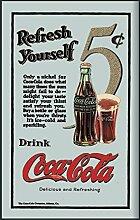 Close Up Coca-Cola Spiegel Refresh Yourself