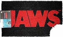 Close Up Der weiße Hai Fußmatte Logo Jaws
