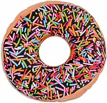 Close Up Donut Sprinkles Kissen aus Polyester