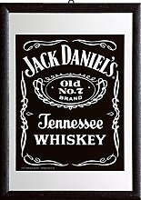 Close Up Jack Daniel's Spiegel Black Label