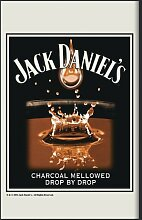 Close Up Jack Daniel's Spiegel Charcoaled