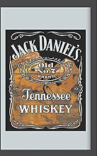 Close Up Jack Daniel's Spiegel mit Whiskey