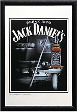 Close Up Jack Daniel's Spiegel Snooker (22cm x