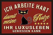 Close Up Luxusleben Katze Fußmatte
