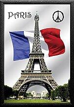 Close Up Paris Peace Wandspiegel mit schwarzem