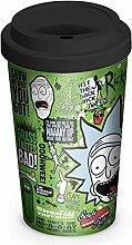 Close Up Rick and Morty Travel Mug Quotes,