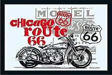 Close Up Route 66 Spiegel Chicago Bike (22cm x