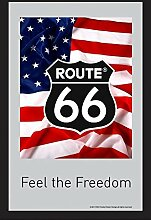 Close Up Route 66 Spiegel Flag Feel The Freedom