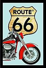 Close Up Route 66 Spiegel Red Bike (22cm x 32cm)