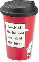 Close Up Sheepworld Becher to go Lächle! aus