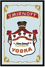 Close Up Smirnoff Vodka Spiegel/Wandspiegel mit