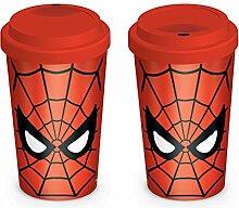 Close Up Spiderman Travel Mug/Coffee-to-Go-Becher