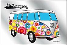 Close Up Spiegel VW Bulli Hippie VW Lizenz