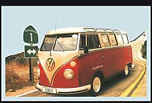 Close Up Spiegel VW Camper Highway 1 California