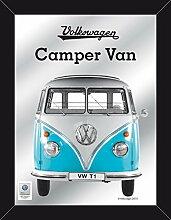 Close Up VW Bulli T1 XL-Wandspiegel - bedruckter