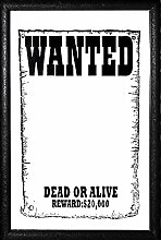 Close Up Wanted Spiegel Dead or Alive (20cm x 30cm)