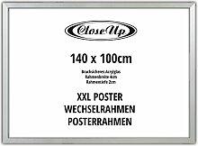 Close Up XXL Posterrahmen 140 x 100 cm, Silber –