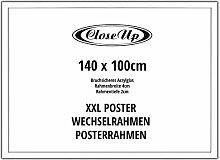 Close Up XXL Posterrahmen 140 x 100 cm, weiß -