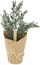 "Closer 2 Nature Artificial Flower, Künstliche Kräuter Pflanze ""Rosmarin"" im Dekotopf, 23 cm, grün"