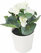 Closer To Nature Kunstblumen 20,3cm Cream Gloxinia–Kunstpflanze Seide und Baum Serie