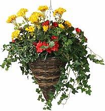 closer2nature Künstliche Geranie rot Begonia und