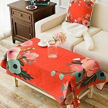 Cloth dicke baumwolle und leinen tischtuch wohnzimmer tv schrank staub-proof cover-E 85x85cm(33x33inch)