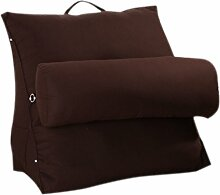 CLOTHES- Baumwolle Dicker Segeltuch Dreieck Große Kissen Verstellbare Rückenlehne Bett Sofa Büro Lendenwirbel Rücken Kissen Rückenkissen ( Farbe : C )