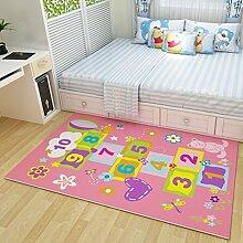 CLOTHES UK- Nette Karikatur-große Teppich-Baby-kriechende Matten-Kinderzimmer-Nachttisch-Wolldecke Teppich ( größe : 120x180cm )