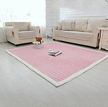 CLOTHES UK- Teppich Kinderzimmer Klettermatte Schlafzimmer Voll Teppichboden Wohnzimmer Rechteckiger Teppich Garderobe Matte Teppich ( Farbe : Pink , größe : 90x160cm )