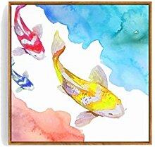 CLOTHES UK- Wand Gemälde abstrakte kreative Koi