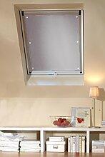 Clothink 48x93cm Thermo Sonnenschutz für Dachfenster | Hitzeschutz für Innen | Ohne Bohren Ohne kleben mit 6 Stabil Saugnäpfe | Große Auswahl für Velux + Roto Fenster | 1Stück Beige