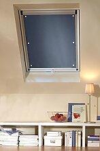 Clothink 48x93cm Thermo Sonnenschutz für Dachfenster | Hitzeschutz für Innen | Ohne Bohren Ohne kleben mit 6 Stabil Saugnäpfe | Große Auswahl für Velux + Roto Fenster | 1Stück Dunkelgrau