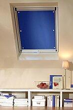 Clothink 57x100cm Thermo Sonnenschutz für Dachfenster | Hitzeschutz für Innen | Ohne Bohren Ohne kleben mit 6 Stabil Saugnäpfe | Große Auswahl für Velux + Roto Fenster | 1Stück Dunkelblau