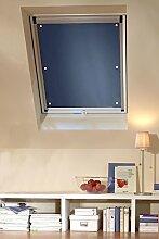 Clothink 96x100cm Thermo Sonnenschutz für Dachfenster | Hitzeschutz für Innen | Ohne Bohren Ohne kleben mit 6 Stabil Saugnäpfe | Große Auswahl für Velux + Roto Fenster | 1Stück Dunkelgrau