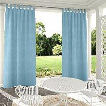 Clothink Outdoor-Vorhang, blau, 127 x 274,3 cm,