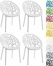 CLP 4er-Set Design-Gartenstuhl Hope aus Kunststoff