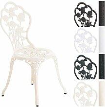 CLP Aluminium Bistro-Stuhl, Gartenstuhl GANESHA, witterungsbeständig, Alu-Guss, antik, passt zum Jugendstil Creme