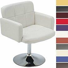 CLP Design Lounge Sessel LOS ANGELES V2, drehbar, mit Kunstlederbezug (aus bis zu 11 Farben wählen) Weiß
