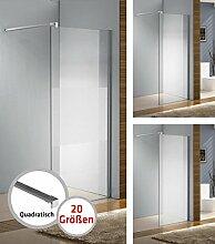 CLP Edelstahl-Duschabtrennung, Nano Glas,