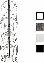 CLP Eisen-Eckregal IRMA | Stabiles Klappregal mit vier Ablagen | Dekoregal im Landhausstil | In verschiedenen Farben erhältlich Bronze