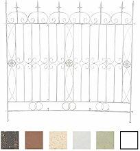 CLP Eisen Gartenzaun MANGOLD, 125 x 115 cm, individuell erweiterbar, Rankzaun, Rankgitter, Spalier Antik Weiß