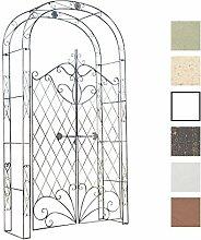 CLP Eisen Rosenbogen MELISSA mit Tor/Tür, Doppeltor Höhe 150 cm, Maße gesamt: Breite 120 cm, Höhe 220 cm, Tiefe 40 cm Bronze